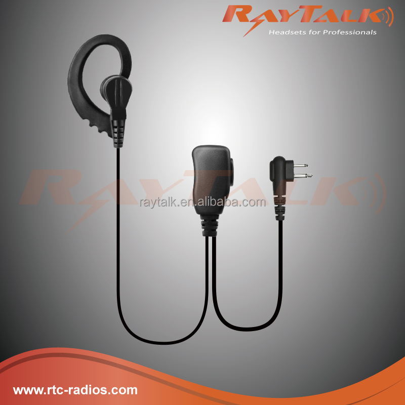 G-Shape Headset Earpiece with Mic for Motorola Radio GP300 EP450