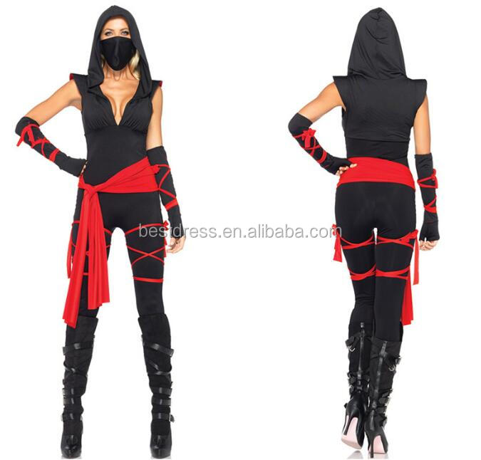 Ladies Deadly Spirit Ninja Samurai Master Adult Halloween Fancy Dress Costume