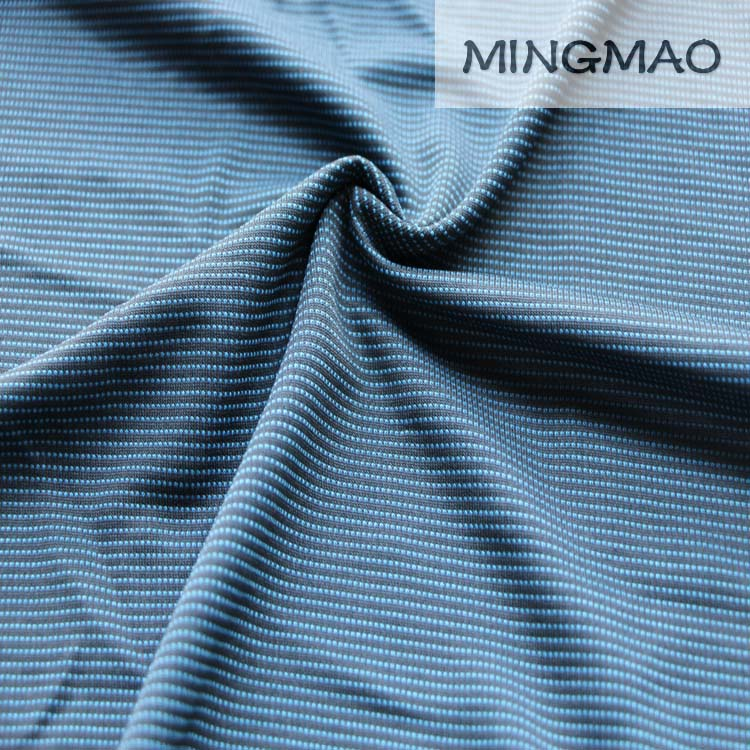 100% polyester double knit fabric mesh two tone t-shirt 160gsm 150cm