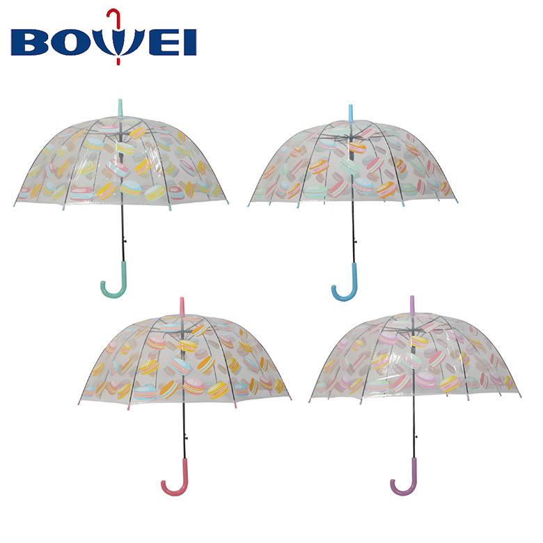 Custom Promotional Fashion Travel POE Clear Transparent Bubble Dome Umbrella Manufacturer China
