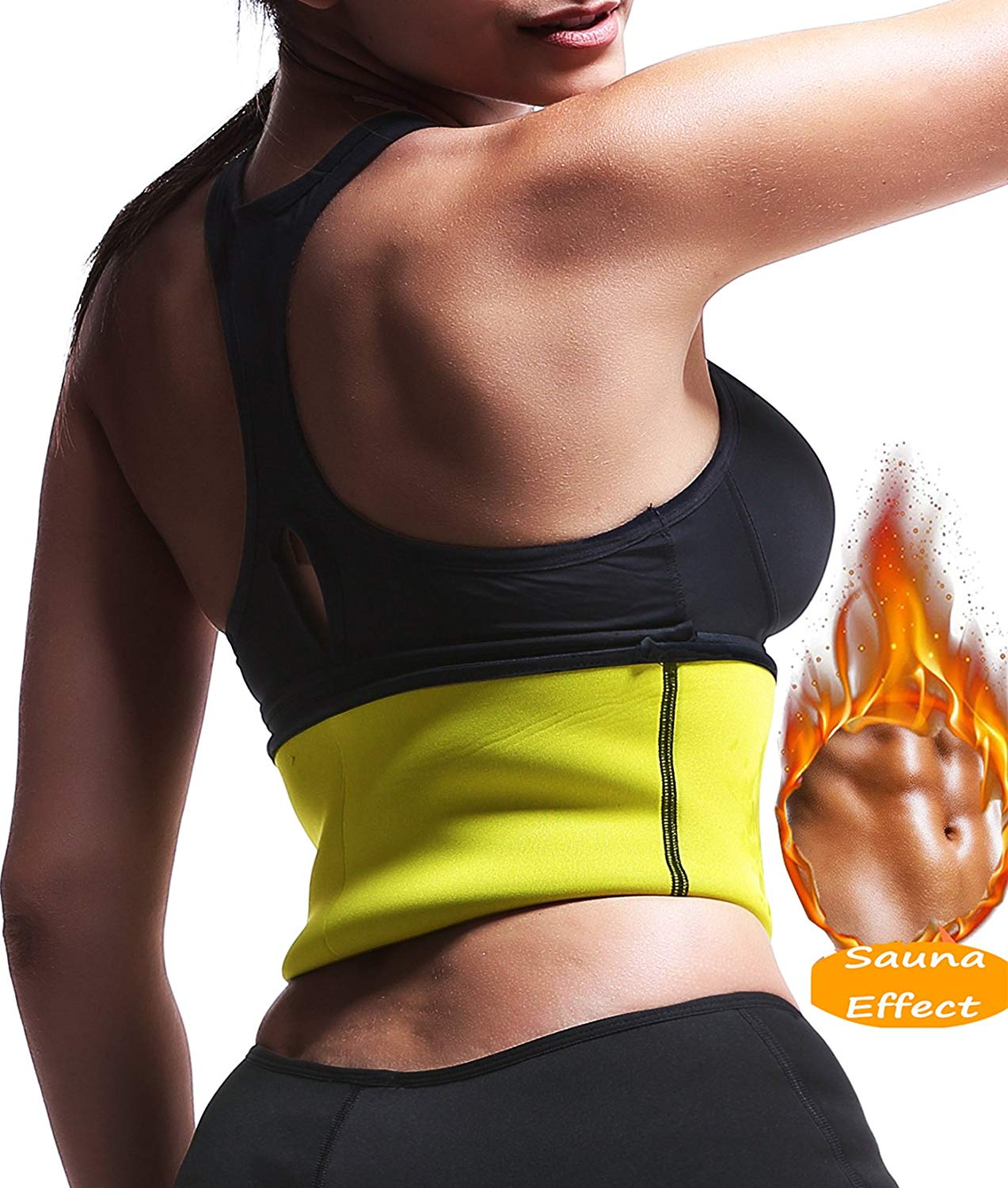 Women Sauna Waist Trimmer Belt Weight Loss Workout Trainer Hot Body Shaper Slimming Girdle Neoprene Training Cincher