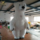 3m custom dancing giant inflatable bear mascot walkabout costumes,polar bear costume