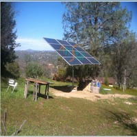 Australian/New Zealand Standard pole-mounted solar panel framing system