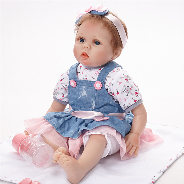 Children's toy full silicone reborn baby <strong>doll</strong> are hot selling
