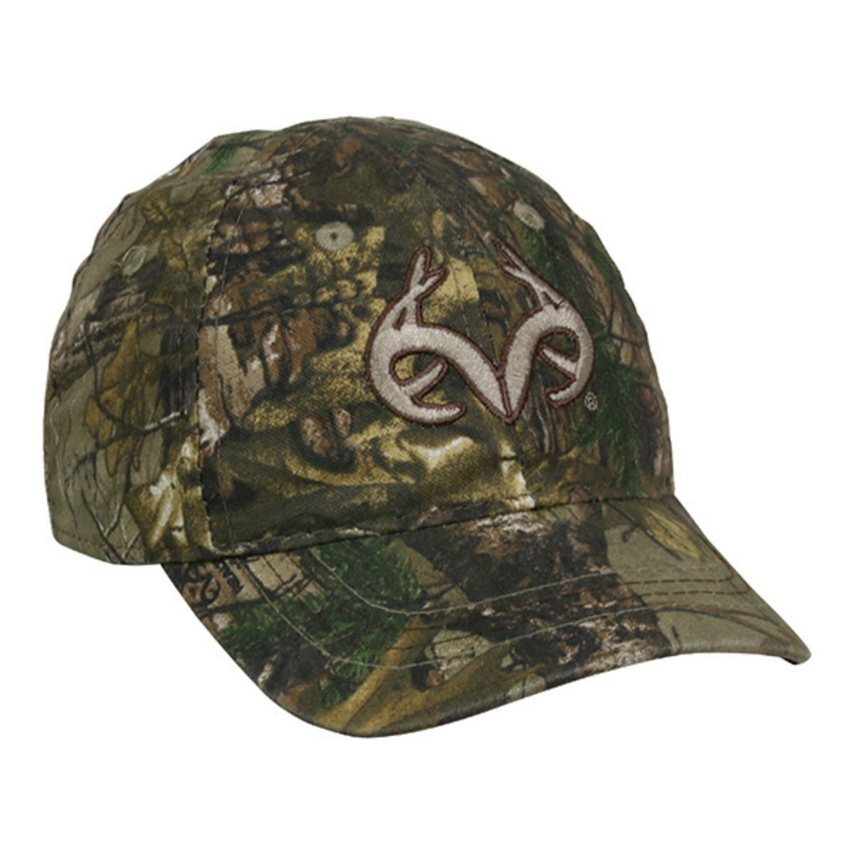 1d66957b431 Get Quotations · Toddler Realtree Camo Buck Horn Kids Hunting Hat   Cap