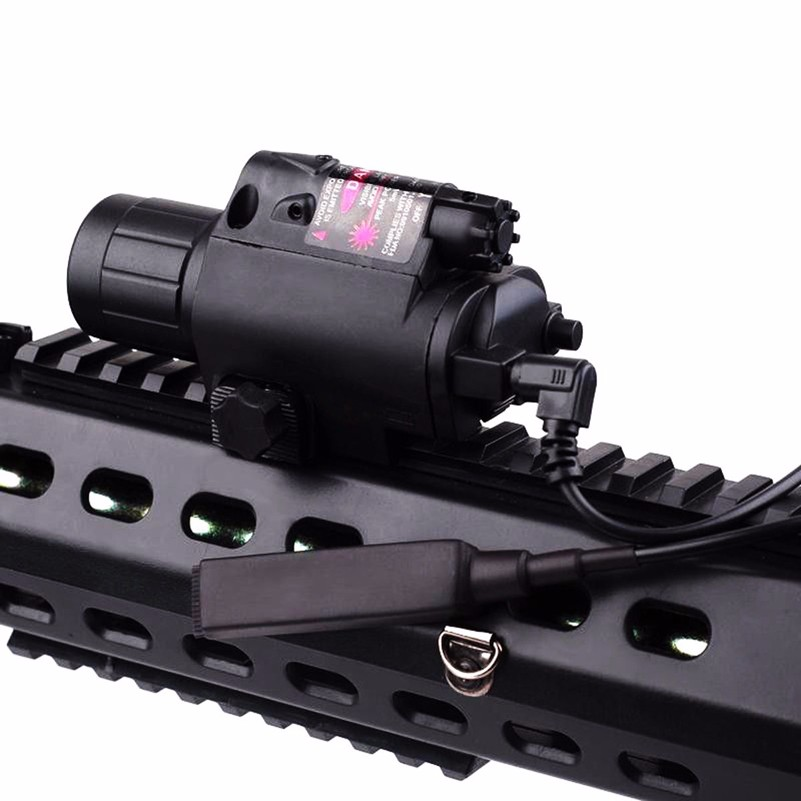 Tactical Red Laser Sight LED Flashlight Weapon Lights with 20mm Picatinny Rail Mount for Glock 17 19 22 Hunting Rifle