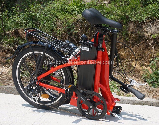 Chinese 20 inch pedal assist lithium battery small folding electric bicycle EN 15194