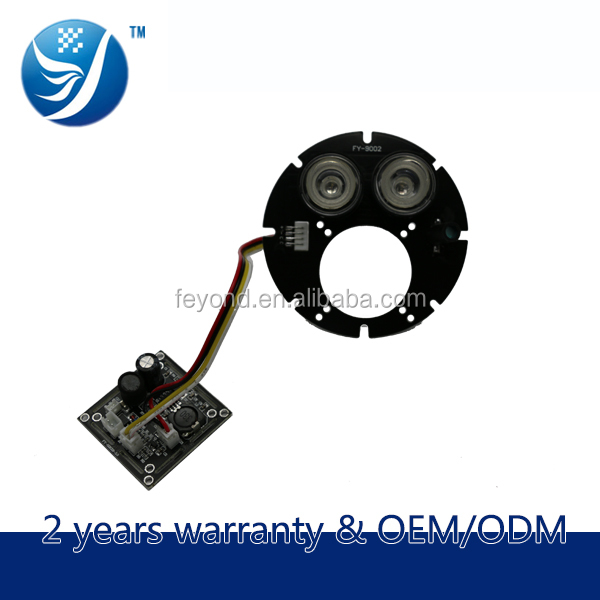 Alibaba China Electronic shenzhen 2 leds array 850nm ir cut filter for 90 size cctv camera ir board