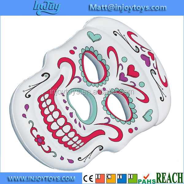Inflatable Suger Skull Raft Pool Float Lounger Island