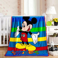 Mickey Mouse pattern printed coral fleece baby blanket