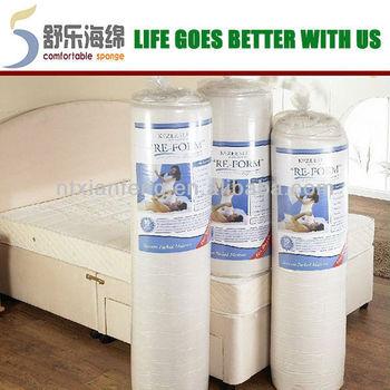 Compress Memory Foam Mattress Topper Vacuum Bag For