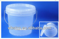 3.8L transparent plastic food barrels with lids and handles