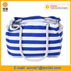 wholesale women Striped handbag Heavy Duty Tote Canvas Shopping bag