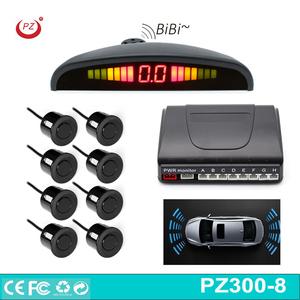 8pcs car rear front parking sensor with 8pcs sensor