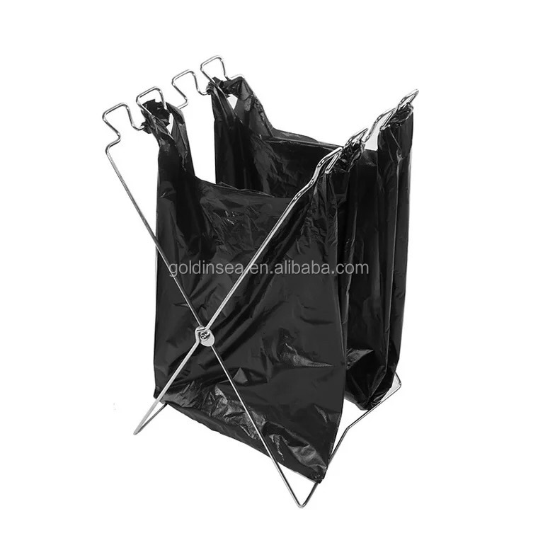 Outdoor Camping Portable Garbage Bag Holder Trash Rack Stand