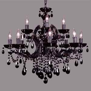 Retro style black crystal russian chandelier