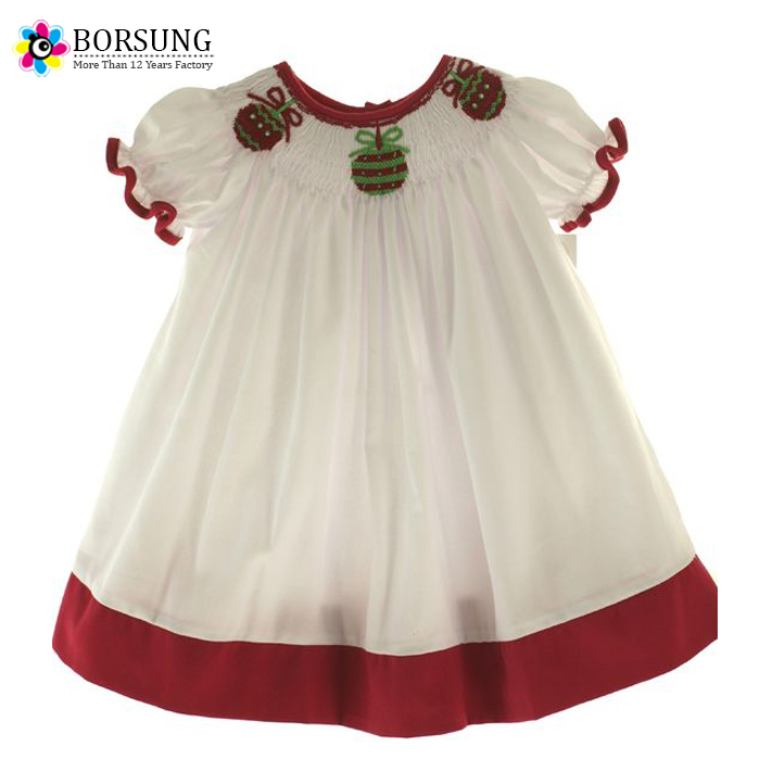 5329d3dd4 Baby Cotton Latest Frocks Designs Kids Girls Christmas Footie ...