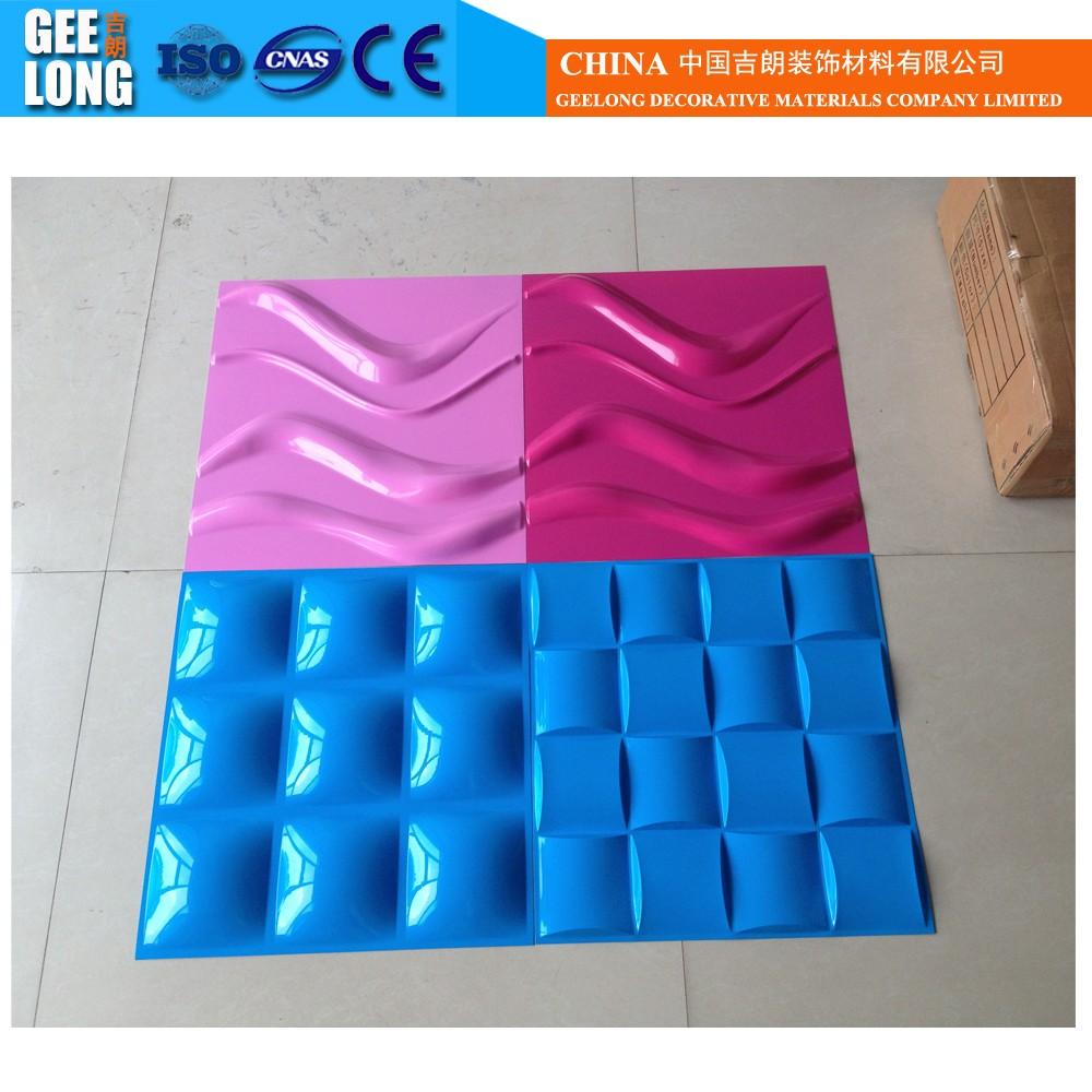 precio bajo de la alta calidad decorativa d tablero de fibras naturales de plantas para pared