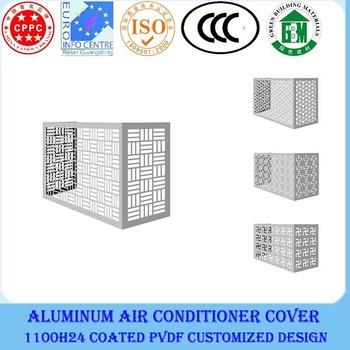 metal cladding aluminum decorative outdoor air conditioner cover - Air Conditioner Covers