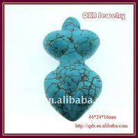 turquoise semi precious stone pendant jewelry