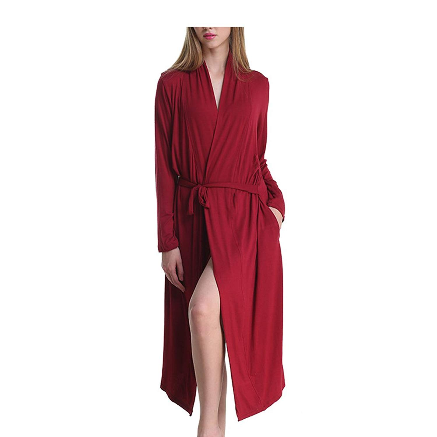 Material Silk. Get Quotations · Loveylife Women Summer Long Cotton Bathrobe  Casual Pajamas Lounge Sleepwear for Women 090745808
