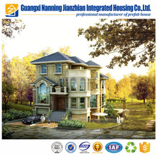European standard luxury prefab house light steel villa