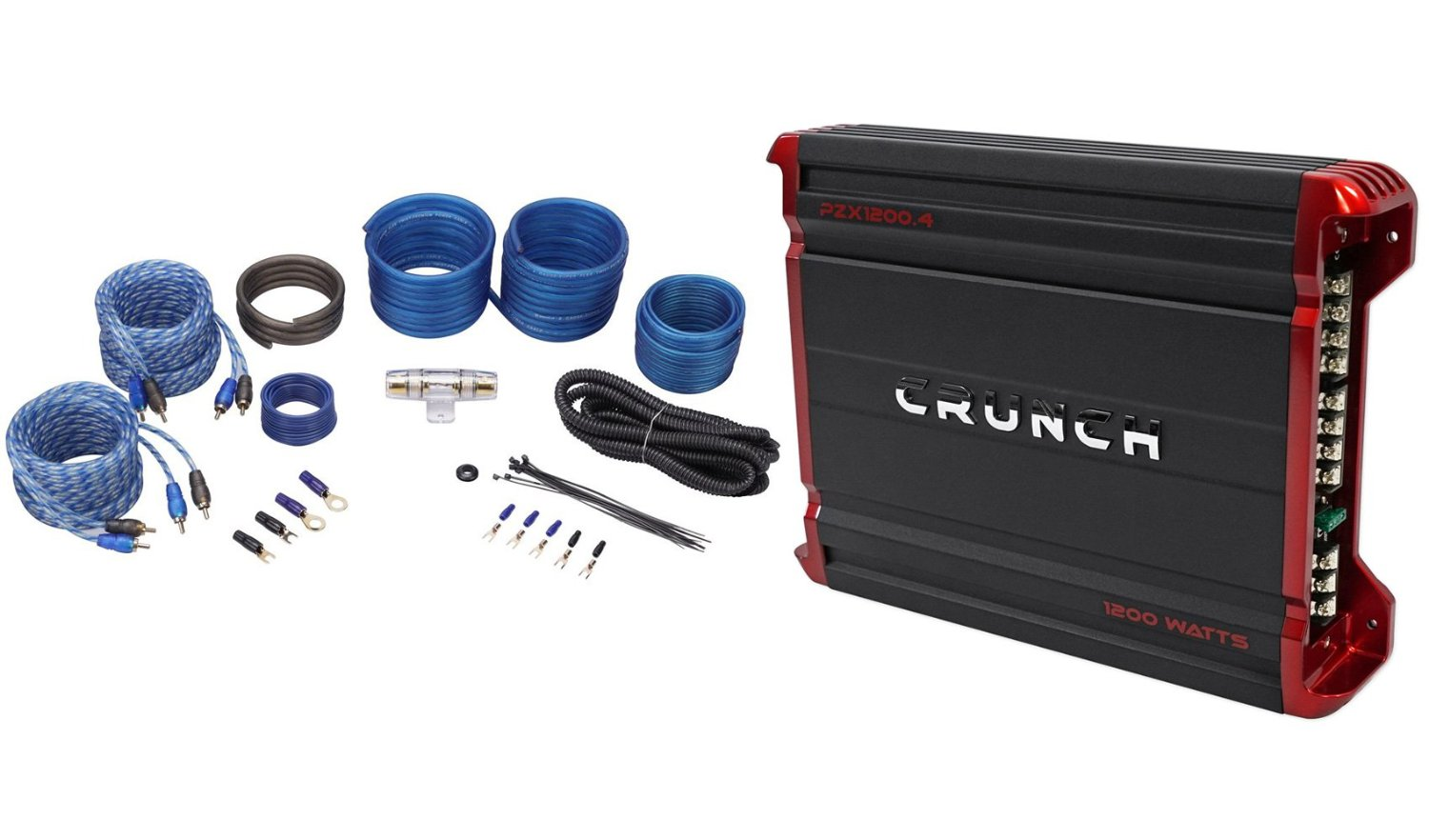 Buy Package Brand New Crunch Pzt5002 500 Watt 2 Channel Bridgeable Best Wiring Kits For Car Audio Pzx12004 1200 4 Powerful Amplifier Rockville Rwk82 8 Gauge Complete Wire Kit With Rca Cable