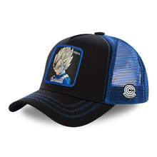 Custom 5 Panel Katoenen Vegeta Super Saiyan VE3 Dragon Ball Mesh Trucker <span class=keywords><strong>Hoed</strong></span>