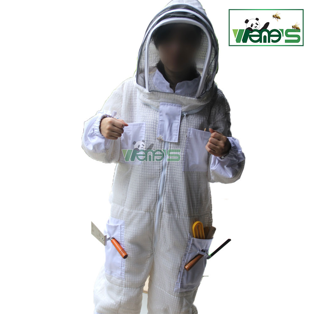 Ultra breeze bee suit Safety Clothing 3 Layers thick mesh ventilated high durability Breathable Professional Bee Suit