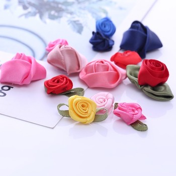 Free Samples Pre-tied handmade rose ribbon bow