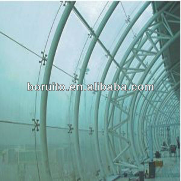 Curved Frameless Glass Curtain Wall