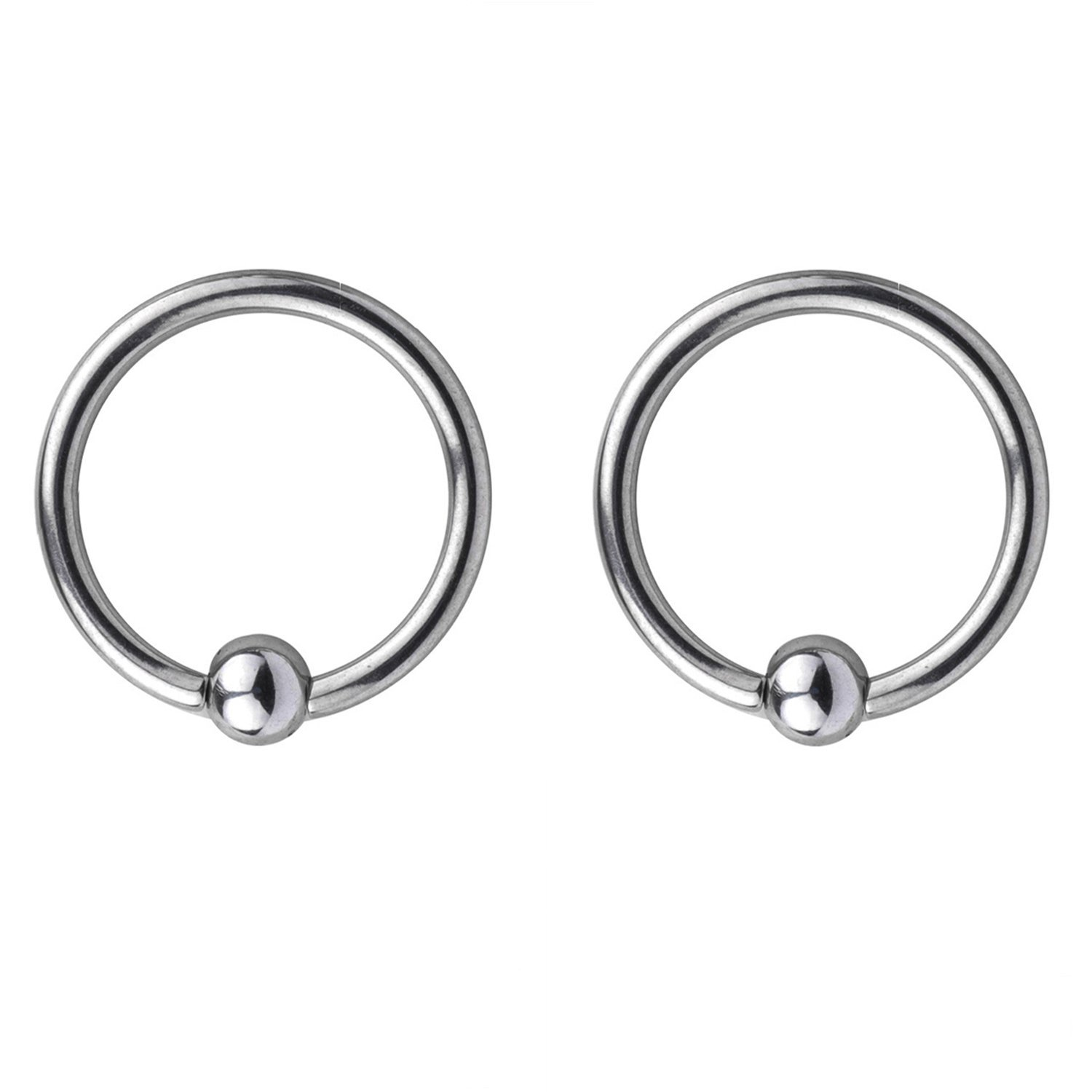 RJRK 16G Stainless Steel Nose Hoop Lip Eyebrow Tongue Helix Tragus Cartilage Septum Piercing Ring 10mm