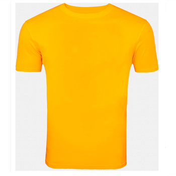 Round neck yellow plain t shirt wholesale buy yellow for Yellow t shirt for kids