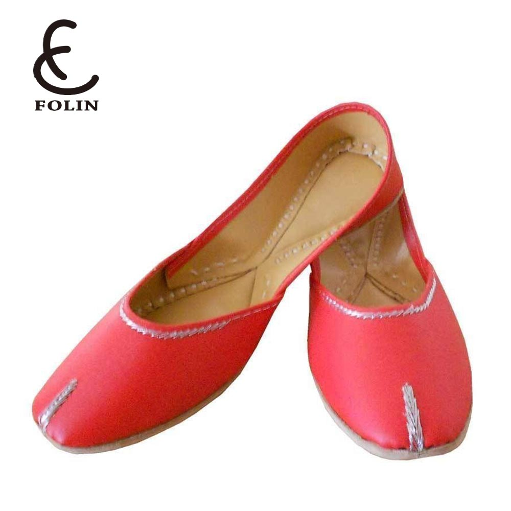 Jutti Indian Handmade Women Shoes Leather Flip Flops doll shoes ladies nice foldable Ballerina shoes Flats UK 8 EU 40