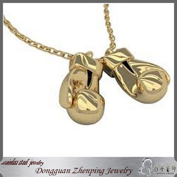 Golden boxing gloves pendantgold boxing necklace buy gold boxing golden boxing gloves pendantgold boxing necklace aloadofball Image collections