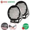 10 inch 225w Led Round Driving light spot/flood cover, offroad 4x4 ATV Truck 225w led driving light