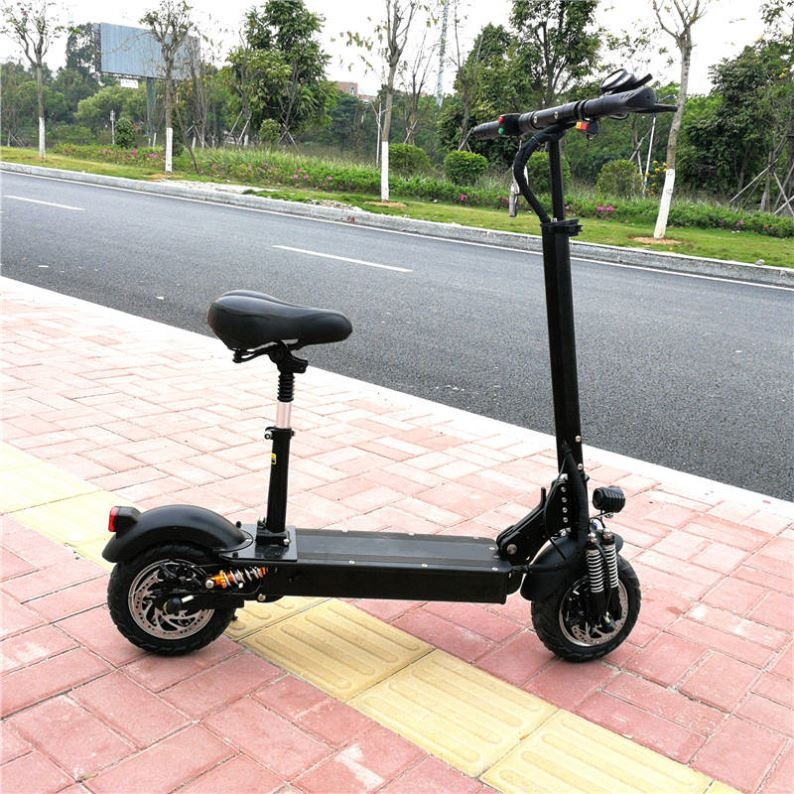 Hot Sale 11inch 52V 2400W Elektro Scooter With Seat, Black