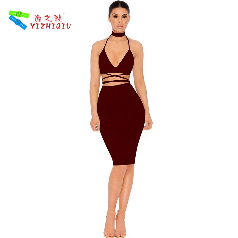YIZHIQIU Spaghetti Strap Backless Velvet Club Dress