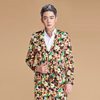 Christmas Party Suit Men.Mens Printed Floral 3 Piece Slim Fit Christmas Party Suit View Men Christmas Suit Oem Product Details From Guangzhou Toturn Trade Co Ltd On