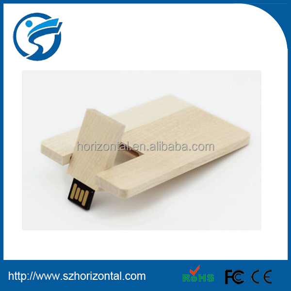 Wooden Card Style Pendrive 8GB USB Flash Drive Disk Personal CUSTOM ENGRAVED