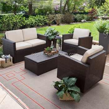 Remarkable Classic Durable 4 Pc Outdoor Rattan Garden Furniture With Storage Coffee Table Cheap American Design Living Room Sofa Set Buy Living Room Sofa Pdpeps Interior Chair Design Pdpepsorg