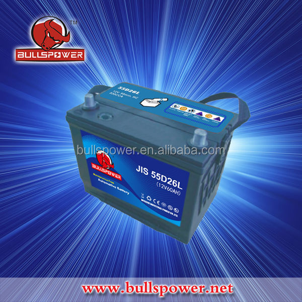 Maintenance free sbk 12v 60ah auto power battery