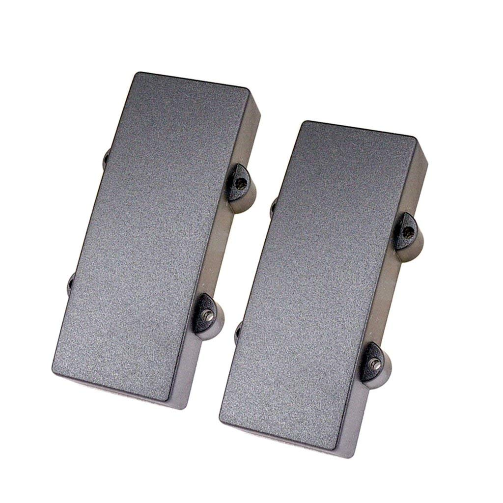 Baoblaze 2PCS Black Plastic Sealed Humbucker Pickup Cover for 4-string Bass