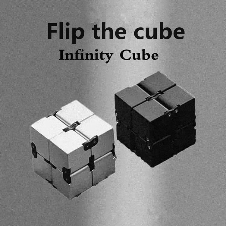 infinity cube. newest anti-stress magic infinity cube fidget desk toys plastic electroplating spinner toy