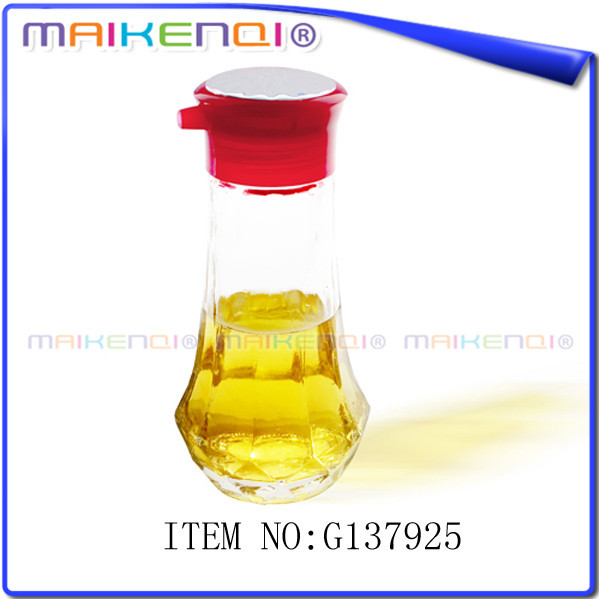 Wholesale fashion design glass cruet bottle vinegar oil