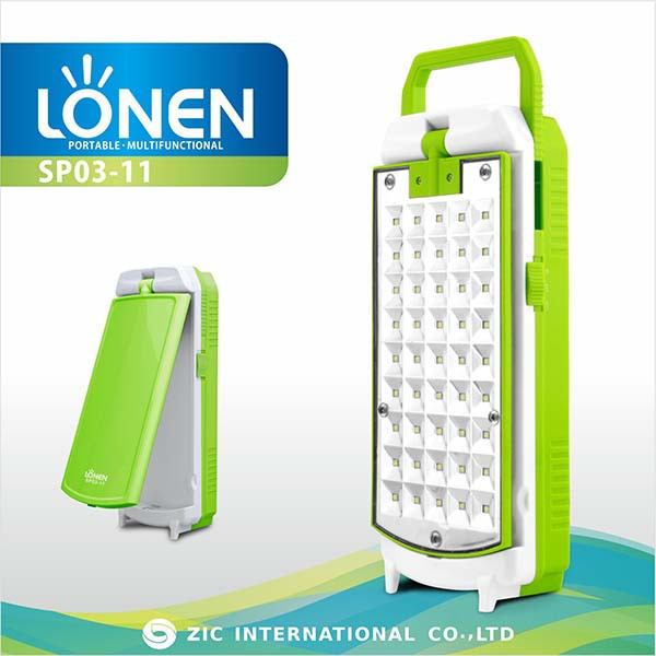 LONEN hand held 45 SMD high power 450lm rechargeable emergency lamp
