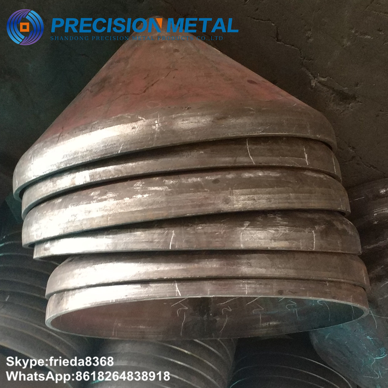 carbon steel elliptical hemisphere cone head double conical head