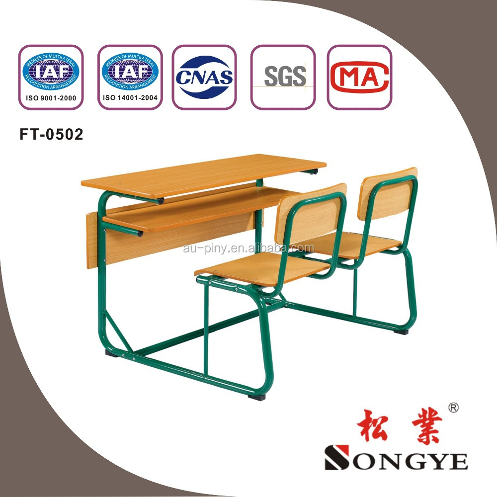 hot selling and good design attached school desks and chair