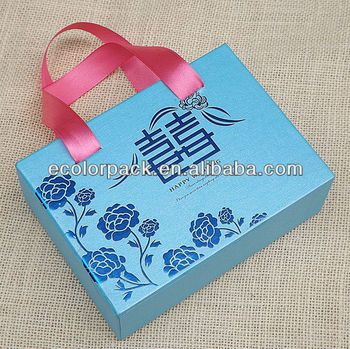 Fancy Nice Art Paper Wedding Gift Box Sweet Lovely Wedding Gift ...