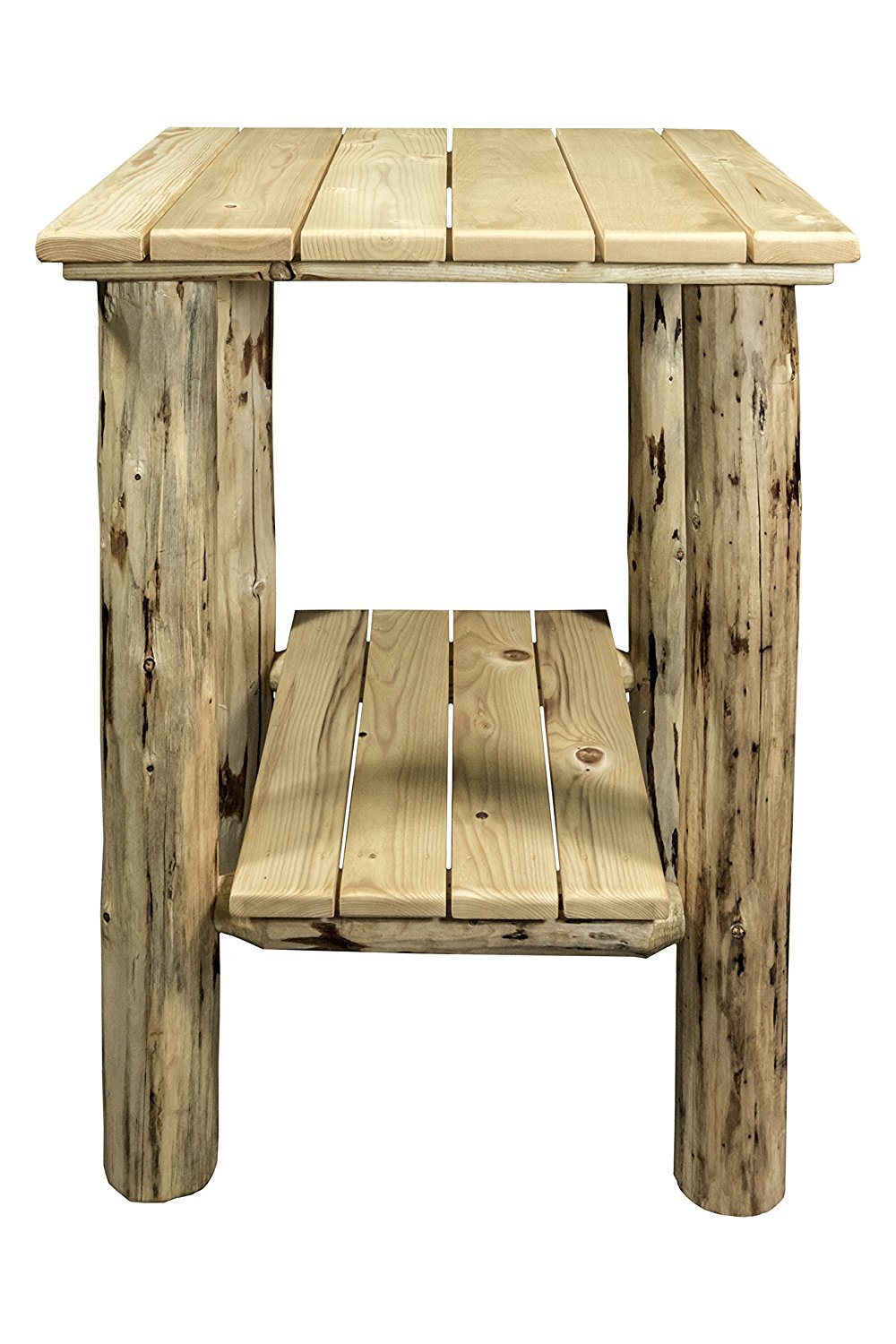 Montana Woodworks Montana Collection Exterior End Table, Clear Exterior Finish